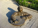 The image of monument to the sanitary technician on road