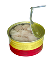 canned fish with cod's liver isolated on the white background