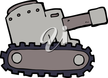Royalty Free Clipart Image of an Army Tank