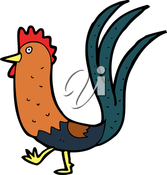 Royalty Free Clipart Image of a Cockerel
