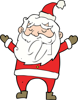 Royalty Free Clipart Image of a Santa Claus