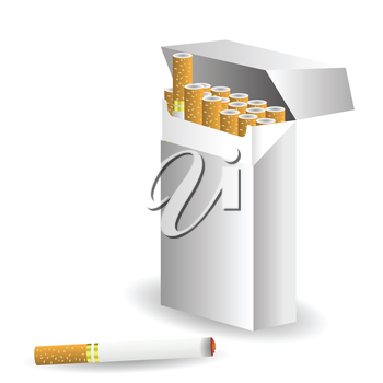 colorful illustration with cigarettes  for your design
