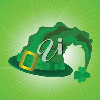 colorful illustration with green hat in saint Patrick Day  for your design