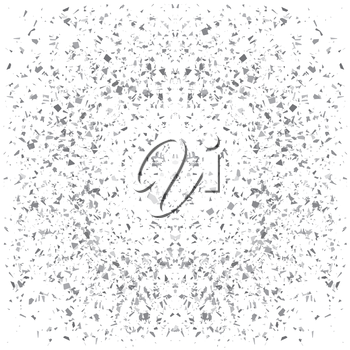 Particles Background. Gray Confetti Isolated on White Background.