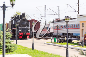 Photo of Russian rail road locomotive
