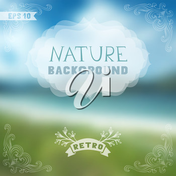 Blur retro backdrop. Travel design. There is place for your text.