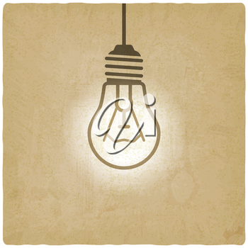 light bulb concept vintage background - vector illustration. eps 10