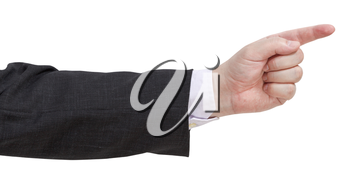 pointing finger - hand gesture isolated on white background