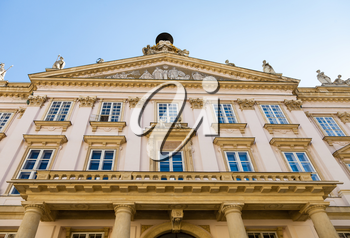 travel to Bratislava city - facade of Primate's Palace