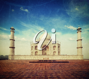 Vintage retro hipster style travel image of 