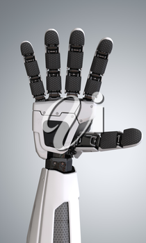 Robot android hand.3D illustration