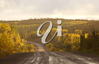 Northern Manitoba road in autumn