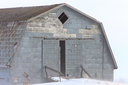 Blizzard and Farm Buildings Saskatchewan