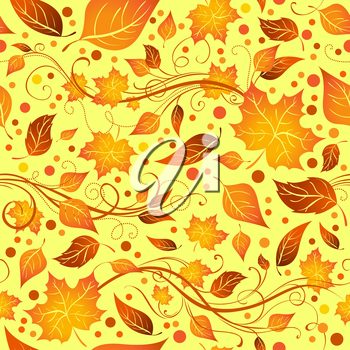 Bright boundless background of leaves for your design.