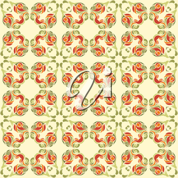 Abstract green and red pattern.