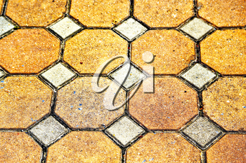 asia thailand kho samui  abstract cross texture floor ceramic  tiles in the temple