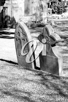 blur  in  south africa  cape town antique  grave cemetery cross stone and grass