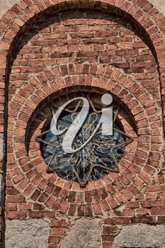 in italy   antique historical medieval decoration wall and window