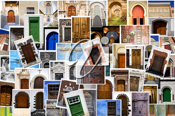 door  images from all over the world in a   patchwork