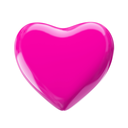 Pink valentine's heart isolated on white. 3d render with HDR