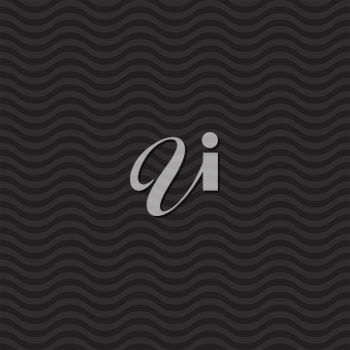 Wavy pattern. Black Neutral Seamless Pattern for Modern Design in Flat Style. Tileable Geometric Vector Background.
