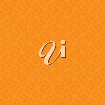 Rounded lines seamless vector pattern. Neutral seamless vector background in orange color.