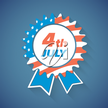 USA Independence Day award icon or banner on a blue background