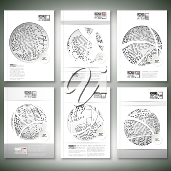 Brochure, flyer or report for business, template vector