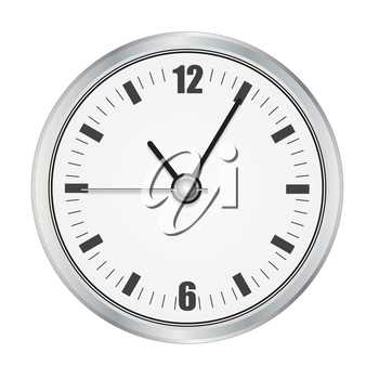 Realistic Watch. Isolated on White Vector Illustration EPS10