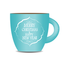 Abstract Beauty Christmas and New Year Cofee Cup. Vector Illustration. EPS10