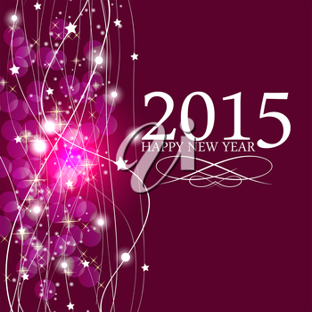 Abstract Beauty Christmas 2015 and New Year Background. Vector Illustration. EPS10