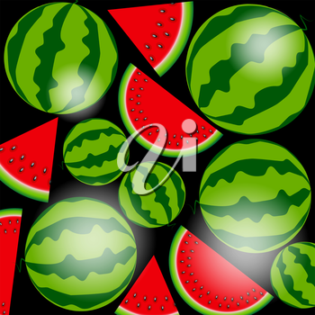 Background From Tasty Watermelon. Vector Illustration. EPS10