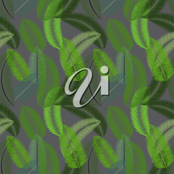 Palm Leaf. Seamless Pattern. Vector Illustration EPS10