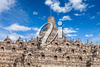 Stupas in Borobudur Temple, Central Java, Indonesia
