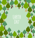 forest pattern. Background of trees. Earth day Template with space for text
