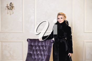 Photo for the cover of a fashion magazine about winter outerwear.