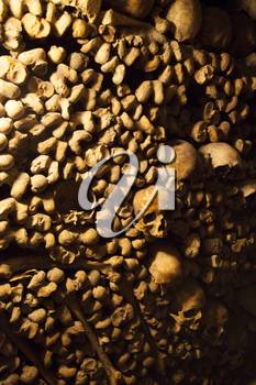 Catacombs of Paris. buried underground for more than 6 million people.