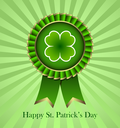 Rosette Ribbon for happy St. Patricks Day