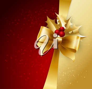 Holiday Background with Christmas baubles and snowflakes. Vector illustration.