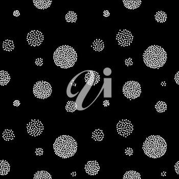 Vector Abstract retro  seamless with circle. Dot pattern