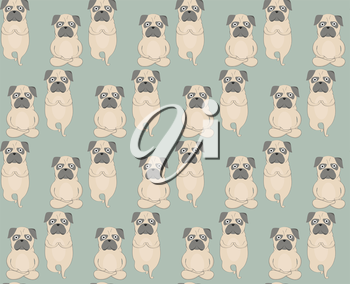 Royalty Free Clipart Image of a Pug Background