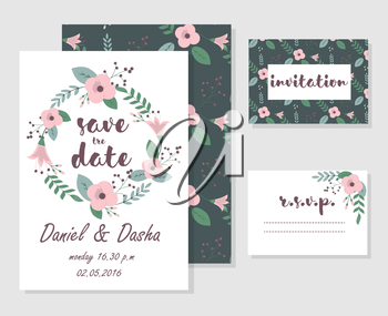 Royalty Free Clipart Image of Wedding Stationery