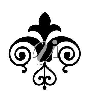 Royalty Free Clipart Image of a Accent With Flourishes
