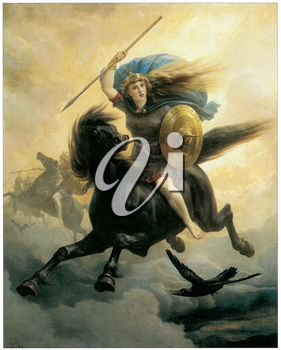 Royalty Free Clipart Image of The Valkyrie by Peter Nicolai Arbo