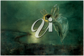 Royalty Free Clipart Image of Spirit of the Night by John Atkinson Grimshaw