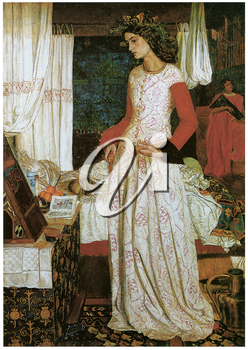 Royalty Free Clipart Image of La Belle I Seult by William Morris
