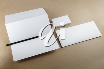 Template for branding identity for designers. Top view.