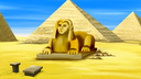 Digital painting of the Sphinx in Egypt.