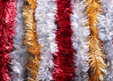 New Year tinsels of different colors