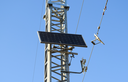 Solar cells to provide power transmission antenna.
